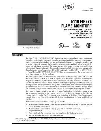 e110 fireye flame monitor u201e bryan boilers rh yumpu com