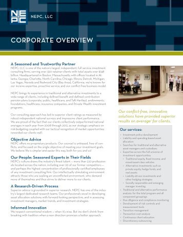 Corporate Overview Glossy - NEPC