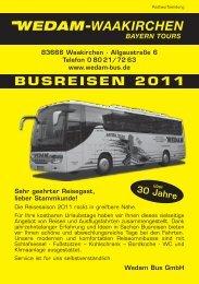 BUSREISEN 2011 - Wedam Bus GmbH