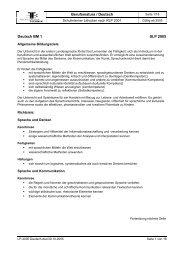 Berufsmatura / Deutsch Deutsch BM 1 SLP 2005