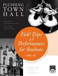 FTH Field Trips & Perfomances brochure - Flushing Town Hall