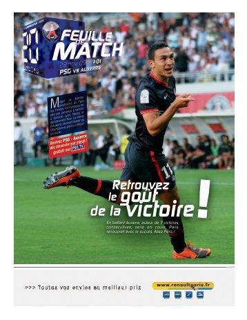 de la victoire - PSG