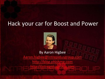 Hack your car for Boost and Power - Defcon