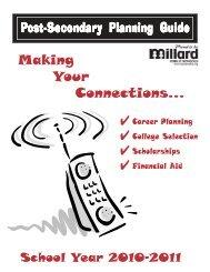 Post Secondary Planning Guide - Millard North High School - Website