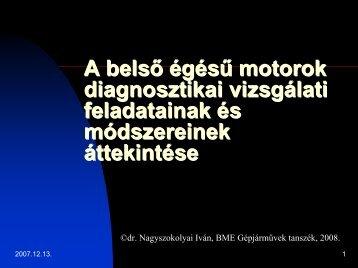 Belső égésű motorok diagnosztikai vizsgálati feladatainak és ...