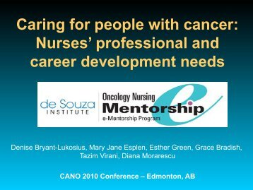 Caring for people with cancer: Nurses' professional and career ...