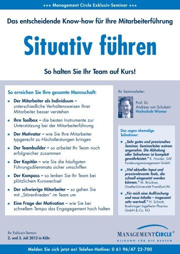 Seminar: Situativ führen - Management Circle AG