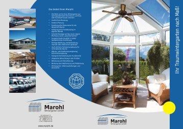 marohl wintergarten, wintergarten magazine, Design ideen