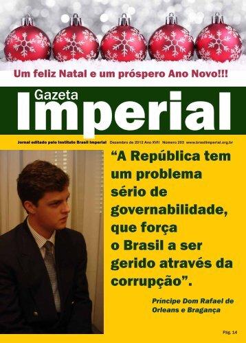 """Gazeta """"A República tem um problema sério de ... - Brasil Imperial"""