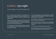 Cookies - nye regler - Plesner