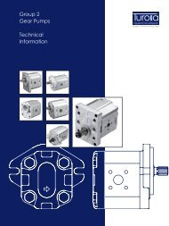Group 2 Gear Pumps Technical Information - Total Hydraulics BV