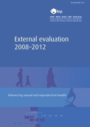 External evaluation 2008–2012 Advancing sexual and reproductive ...