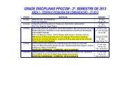 Disciplinas do 2o. semestre de 2013 - ECA-USP