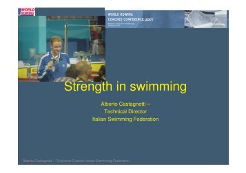 Strength in swimming