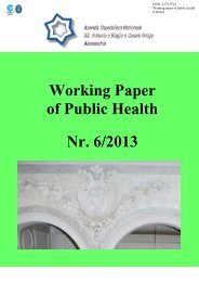 Working Paper of Public Health Nr. 6/2013 - Azienda Ospedaliera ...