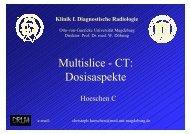 Multislice - CT: Dosisaspekte
