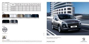 3008 teknik özellikler - Peugeot