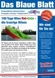 Wir sind für Sie da! 100 Tage Wien Rot-Grün - die ... - Liesing - FPÖ