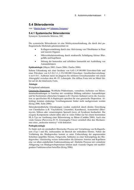 Sklerodermie - Derma-Net-Online.de