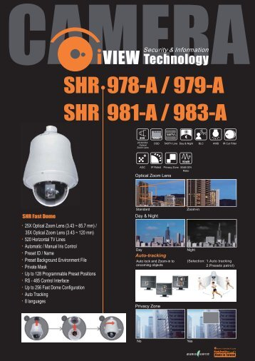 SHR 978-A / 979-A SHR 981-A / 983-A