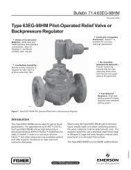 63EG-98HM Relief Valve or Backpressure Regulator - Control