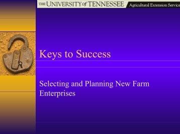 Keys to Success - UT Extension
