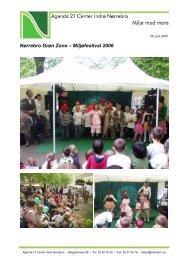 Stemningsbilleder for Nørrebro Grøn Zone – Miljøfestival 2006