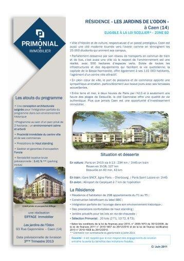 RÉSIDENCE « LES JARDINS DE L'ODON - Primonial Immobilier