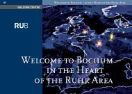 Welcome to Bochum - International - Ruhr-Universität Bochum