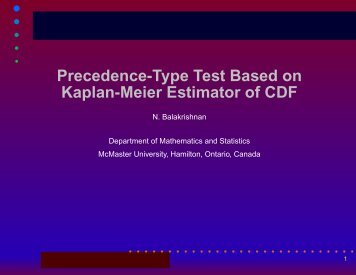 Precedence Test - Institute for Statistics and Mathematics