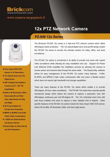 12x PTZ Network Camera - Camera Megapixels