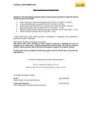 TUESDAY 5 SEPTEMBER 2006 Strong ... - Investor relations