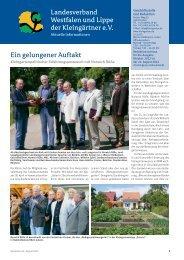 Aktuelle Informationen - Landesverband Westfalen und Lippe der ...