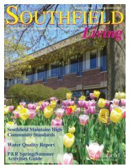 Southfield Living Voulme 9, Issue 1 Spring ... - City of Southfield