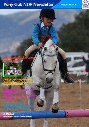 Newsletter - June 2013 - Pony Club Association of NSW