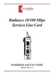 Radiance 10/100 Mbps Services Line Card