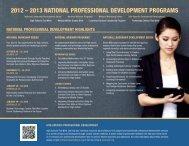 2012 – 2013 national professional development programs