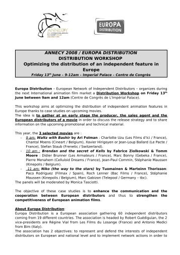 ANNECY 2008 / EUROPA DISTRIBUTION DISTRIBUTION ...