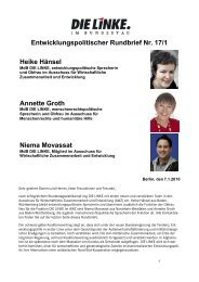 Entwicklungspolitischer Rundbrief Nr. 17/1 Heike ... - Annette Groth