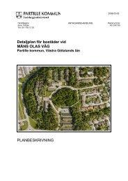 Detaljplan för bostäder vid MÅNS OLAS VÄG ... - Partille kommun