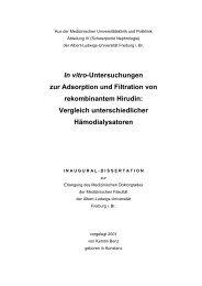 In vitro-Untersuchungen zur Adsorption und Filtration von ...