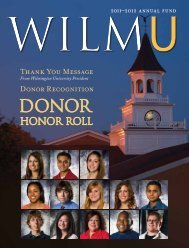 Donor Honor Roll - Wilmington University