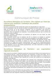 Communiqué de Presse - Ecophyto 2018 en Poitou-Charentes