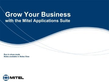 Mitel Applications Suite Customer Presentation - Ash Telecom