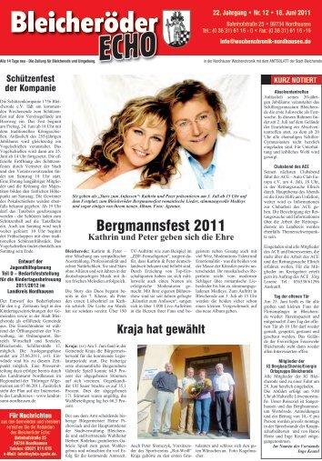 Bergmannsfest 2011 - Nordhäuser Wochenchronik