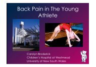 Back Pain in The Young Athlete - Tour Hosts Pty Limited