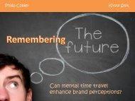 Can mental time travel enhance brand perceptions? - SAMRA
