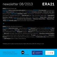 newsletter 08/2013 + - Era21