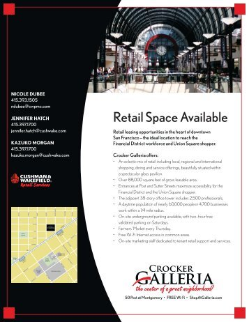 Retail Space Available - Post Montgomery Center