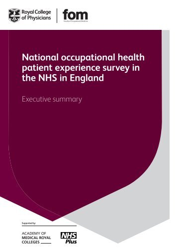 Patient experience survey - executive summary - Royal College of ...